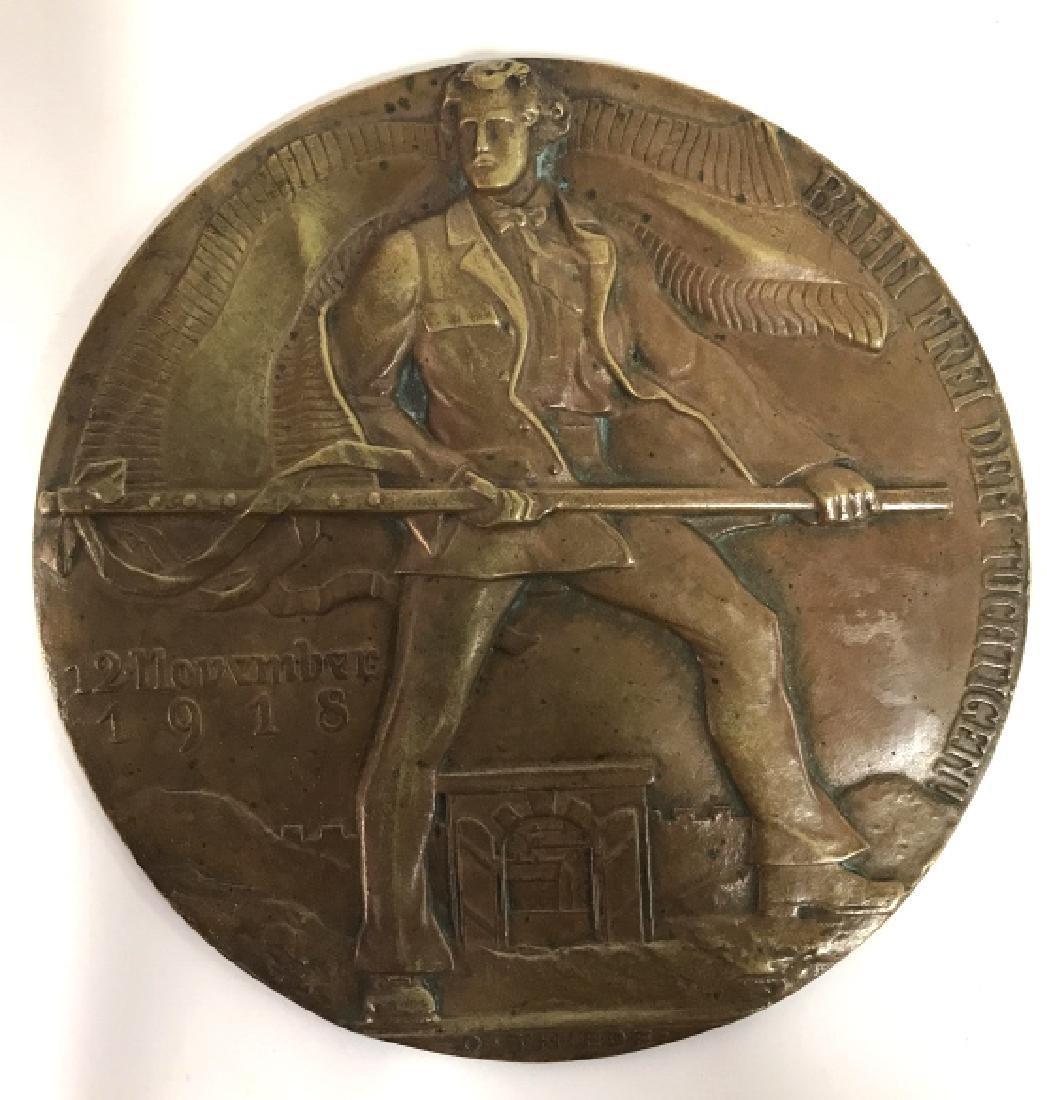 Bronze Relief Metal By Oscar Thiede