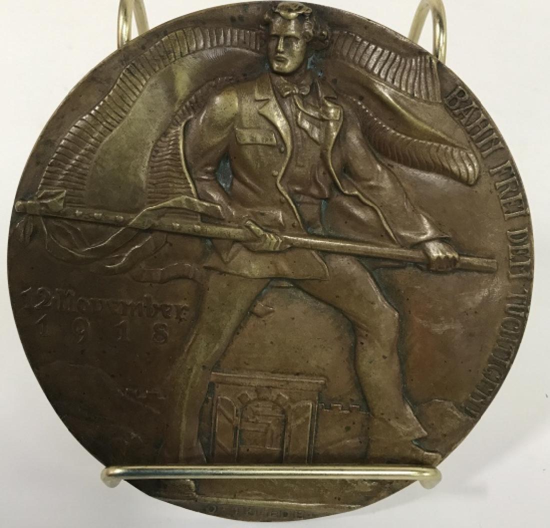 Bronze Relief Metal By Oscar Thiede - 2