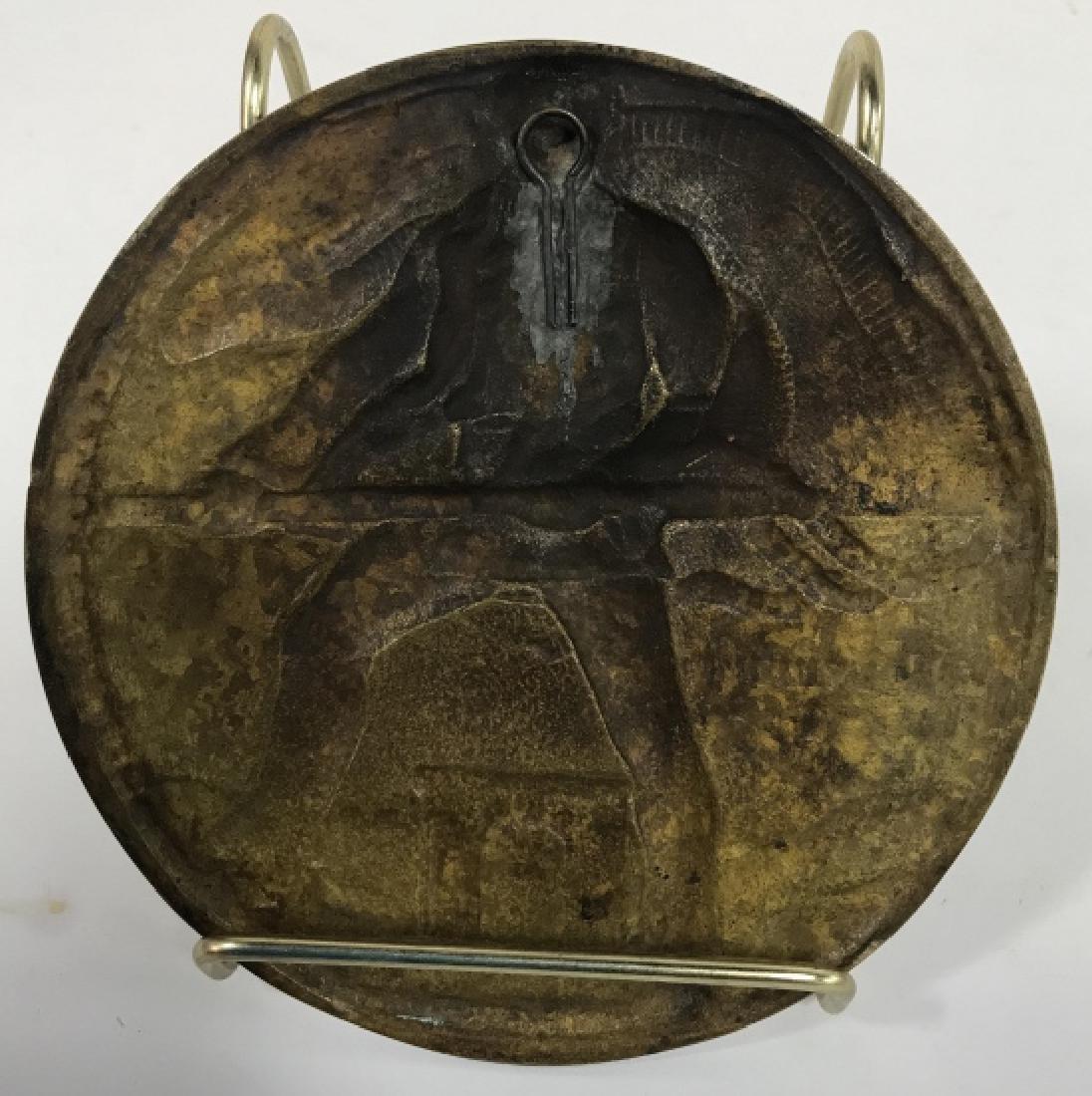 Bronze Relief Metal By Oscar Thiede - 3