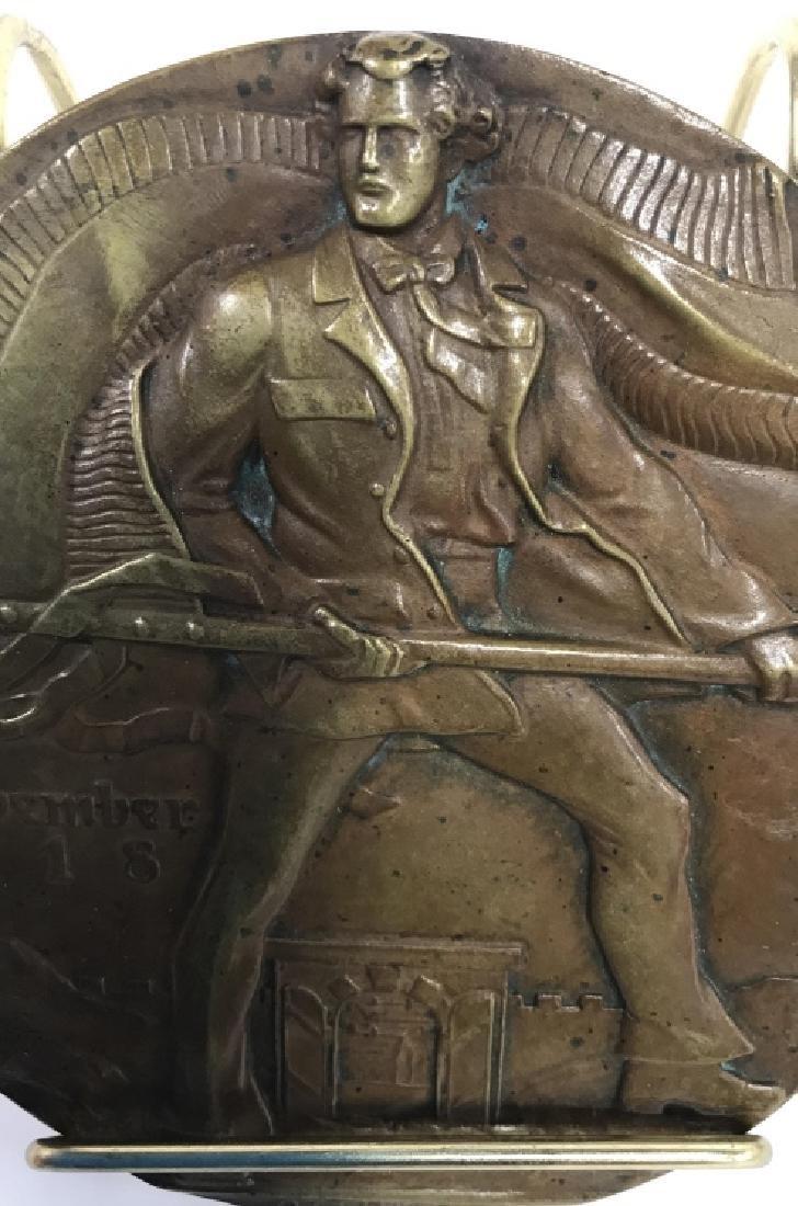 Bronze Relief Metal By Oscar Thiede - 4