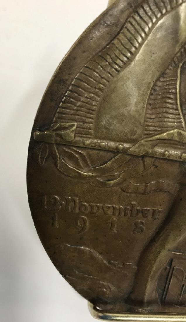 Bronze Relief Metal By Oscar Thiede - 5