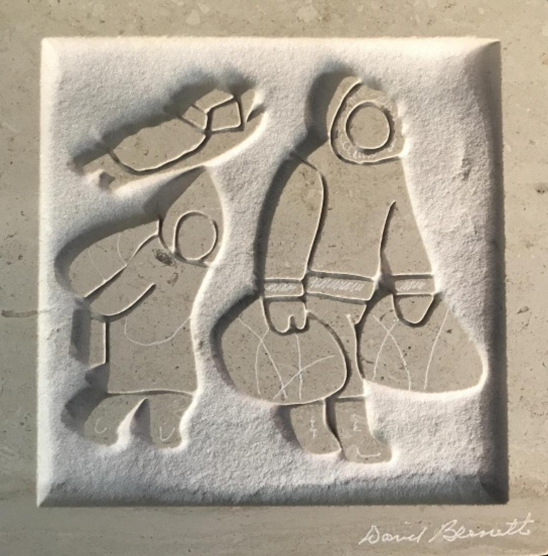 David Bennett Inuit Relief Sculpture