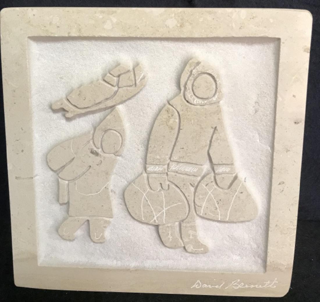 David Bennett Inuit Relief Sculpture - 2