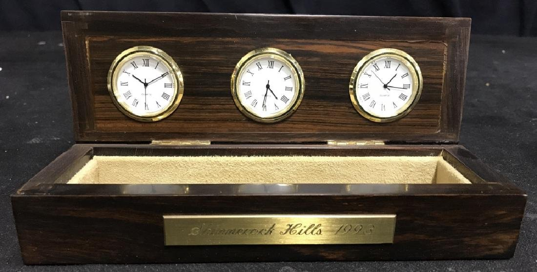 Shinnecock Hills Clock Rosewood Box
