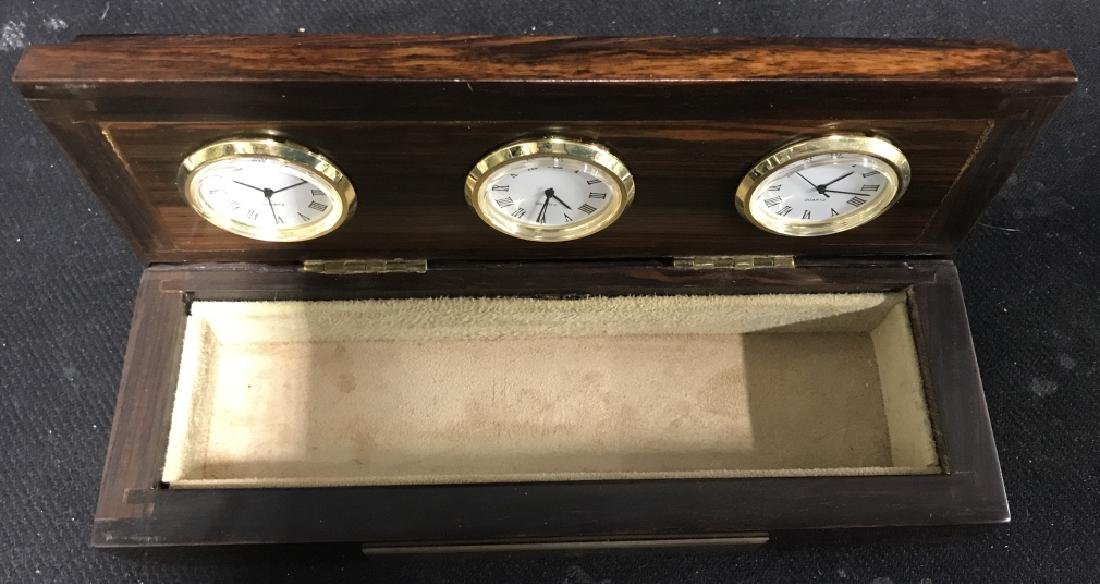 Shinnecock Hills Clock Rosewood Box - 7