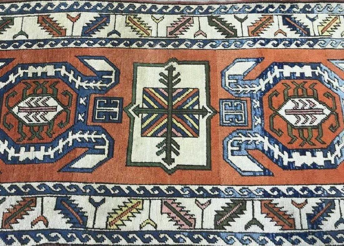 Vintage Handmade Fringed Oriental Rug