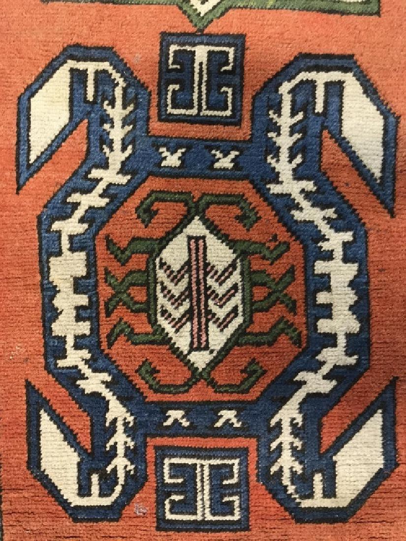 Vintage Handmade Fringed Oriental Rug - 3