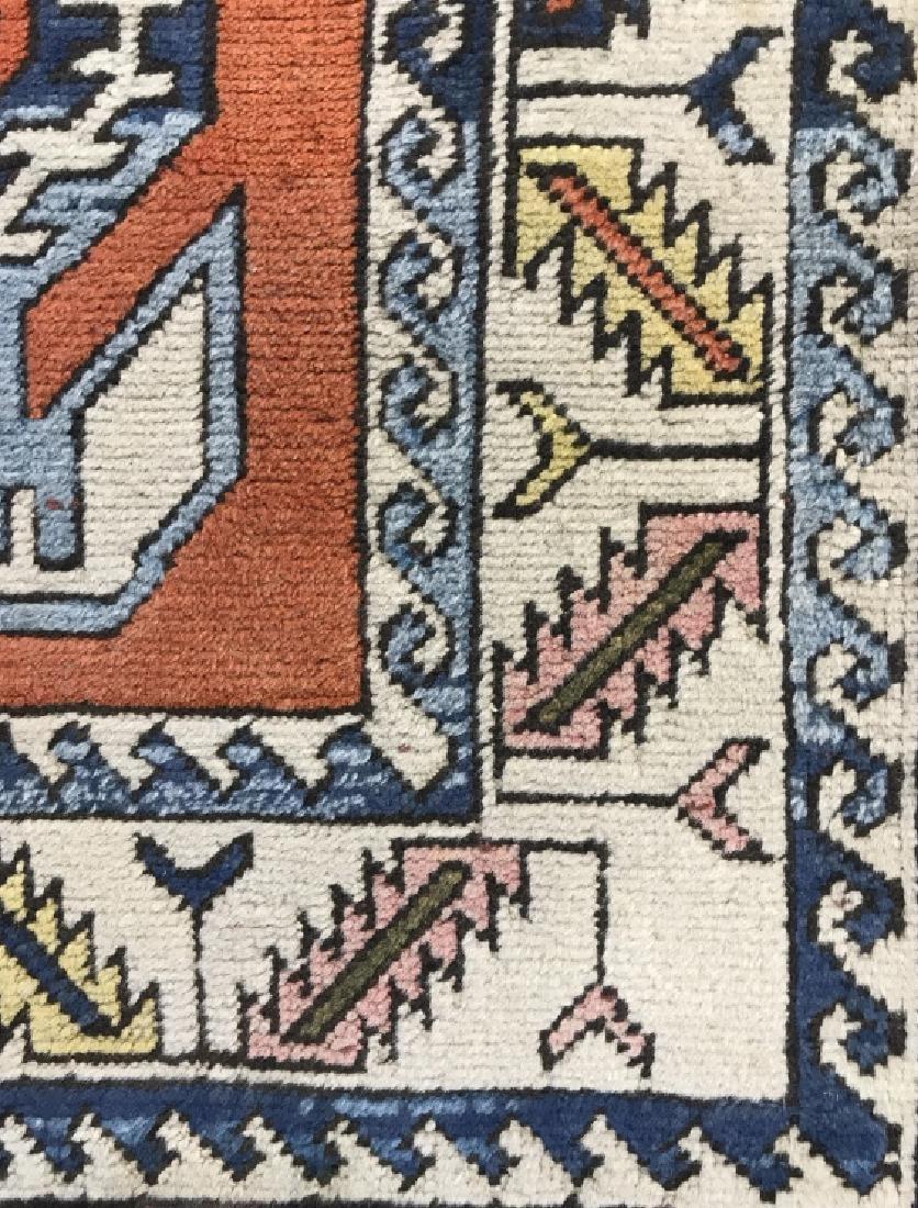 Vintage Handmade Fringed Oriental Rug - 5