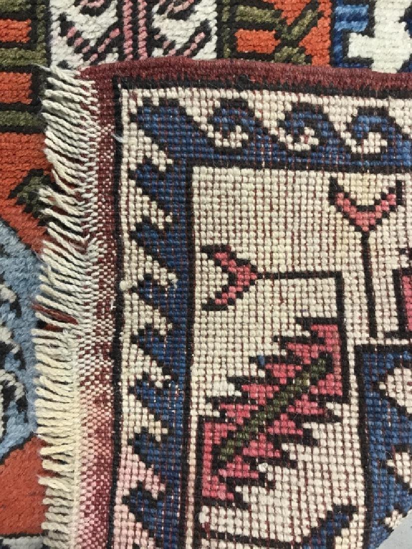 Vintage Handmade Fringed Oriental Rug - 6