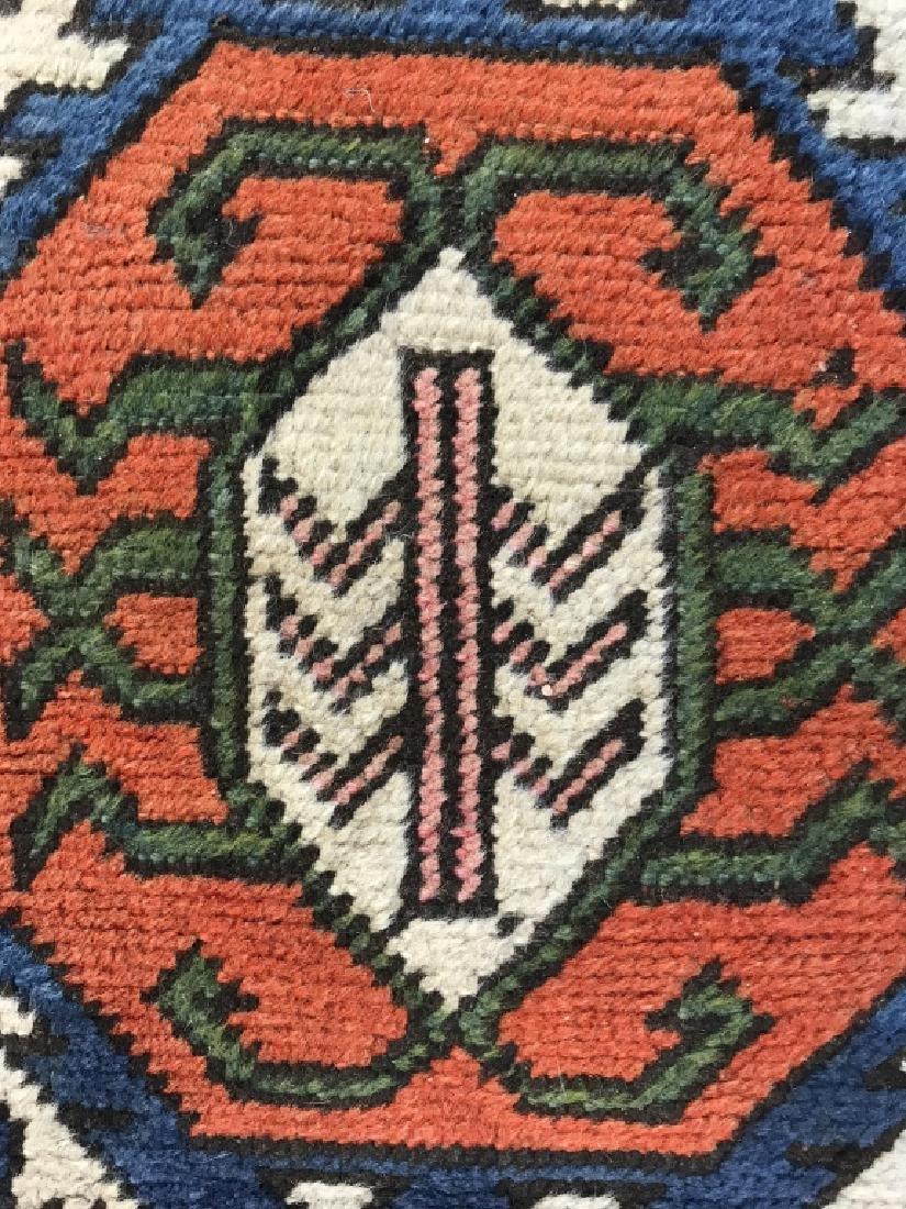 Vintage Handmade Fringed Oriental Rug - 9