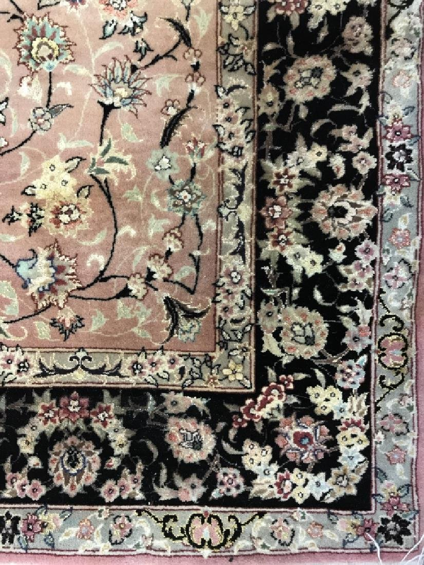 Handmade Antique Fringed Persian Rug - 4