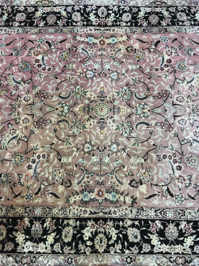 Handmade Antique Fringed Persian Rug - 5