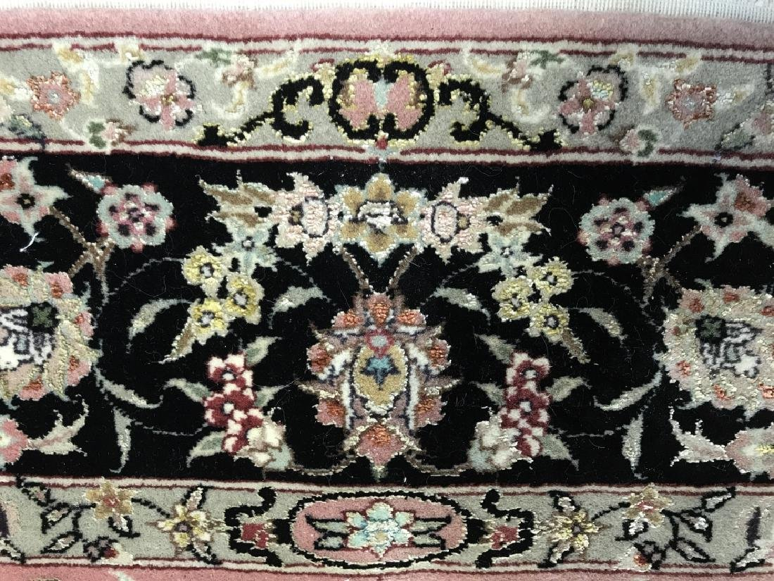 Handmade Antique Fringed Persian Rug - 6