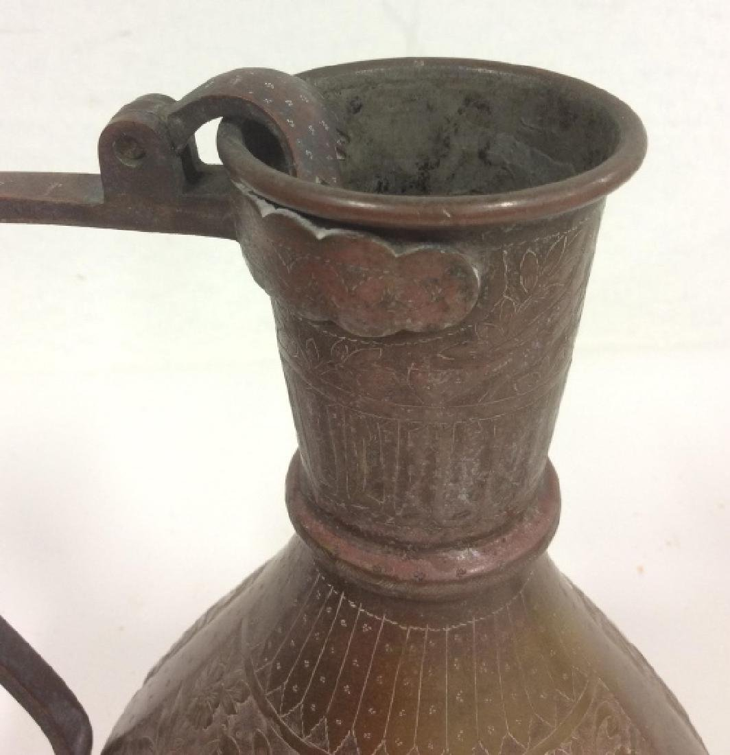 Lot 2 Bronze Toned Metal Tableware - 9
