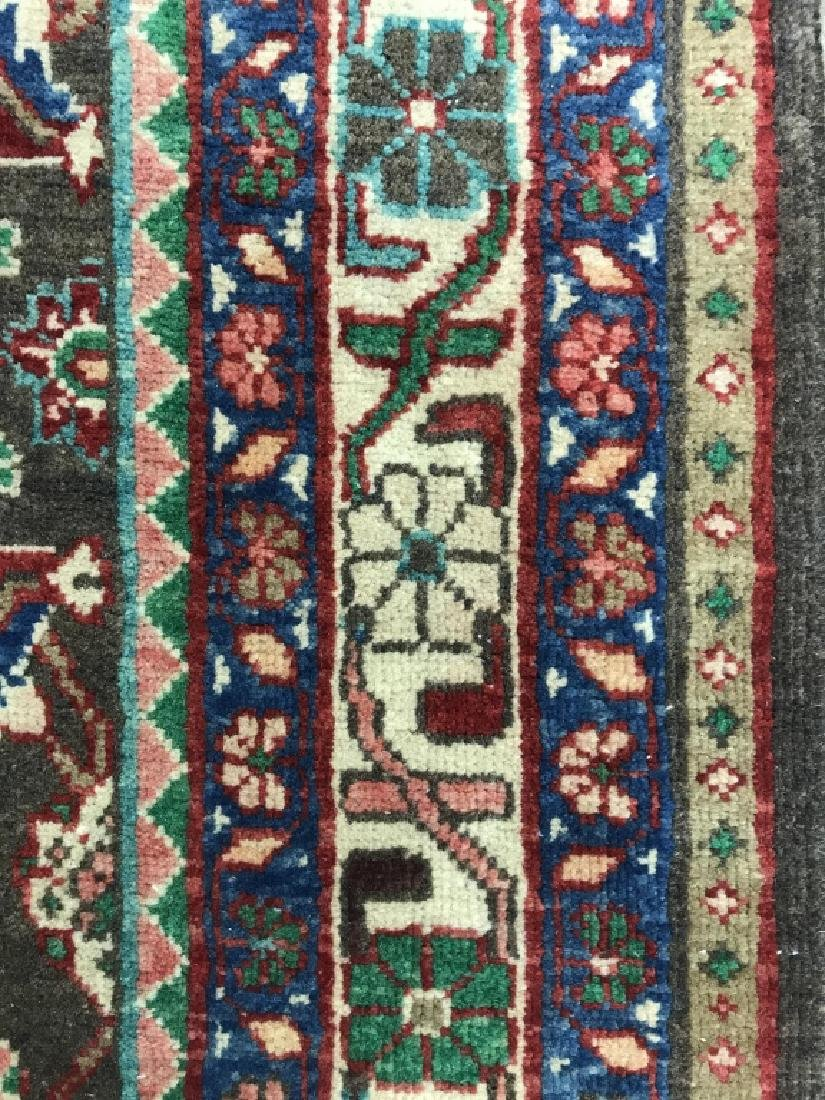 Vintage Handmade Persian Wool Rug C 1950's - 6