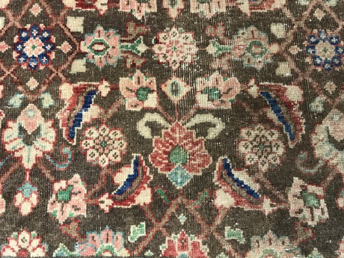 Vintage Handmade Persian Wool Rug C 1950's - 9