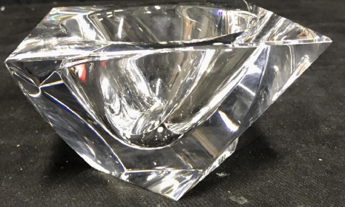 ORREFORS Sweden Glass Square Bowl - 2