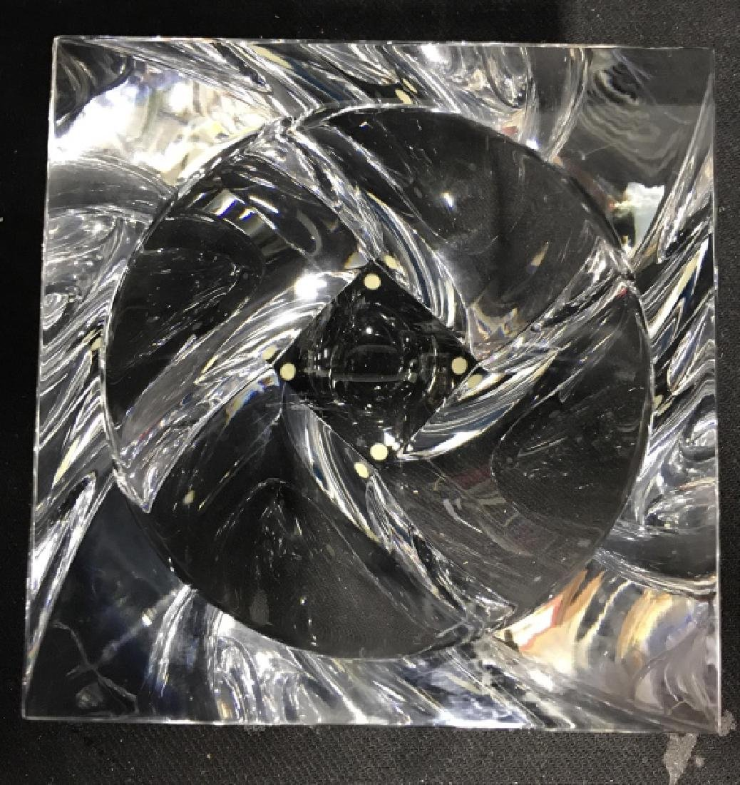 ORREFORS Sweden Glass Square Bowl - 4