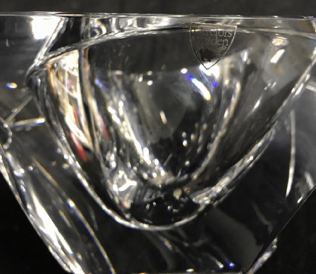 ORREFORS Sweden Glass Square Bowl - 5