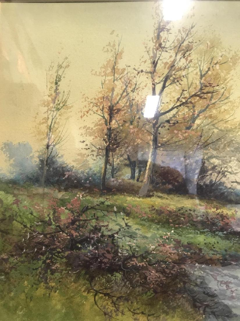Watercolor Of Country Stream Signed T. Montgomery - 4