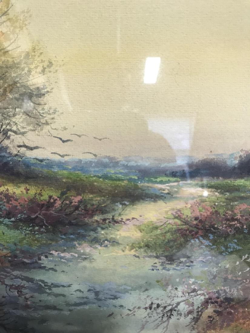 Watercolor Of Country Stream Signed T. Montgomery - 7