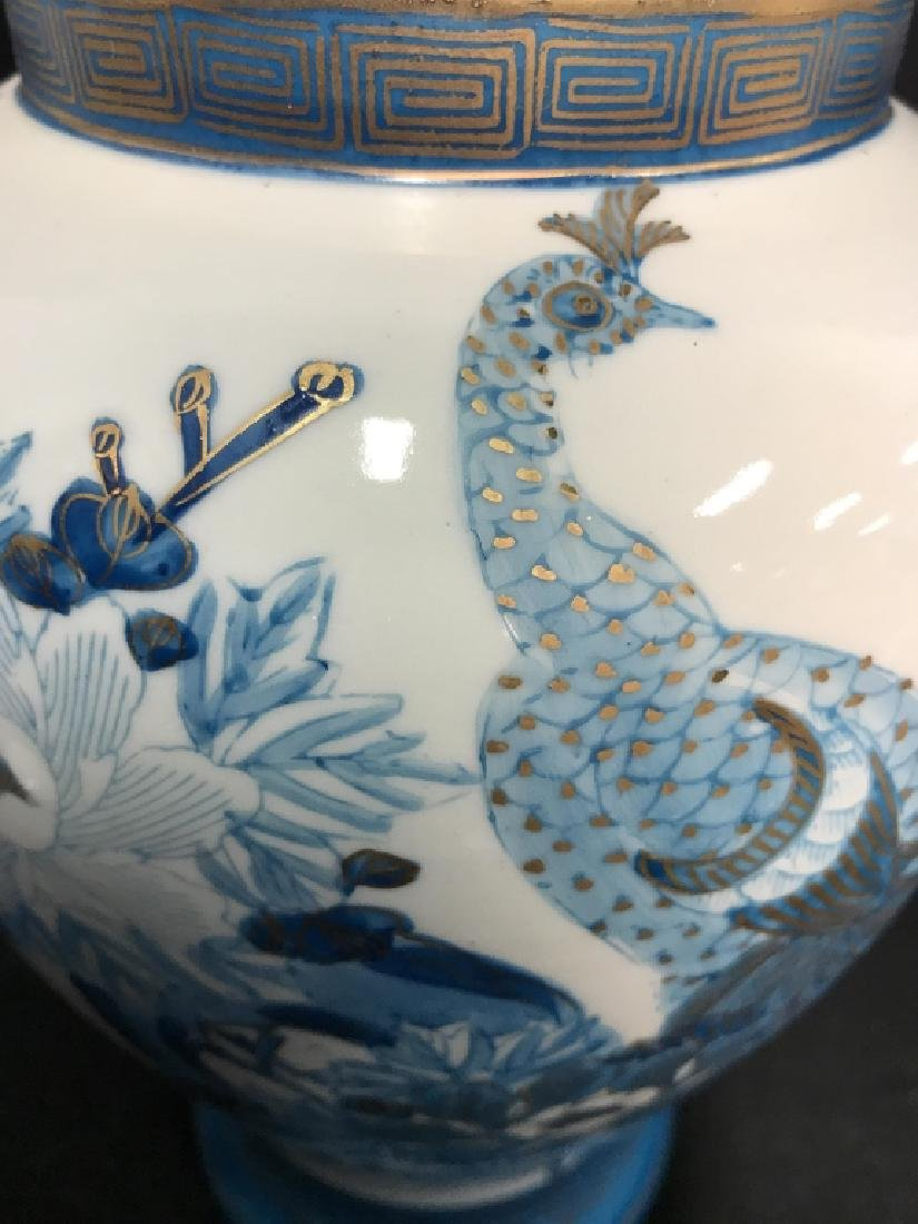 Pair Asian Porcelain Ginger Jars W Lids - 10