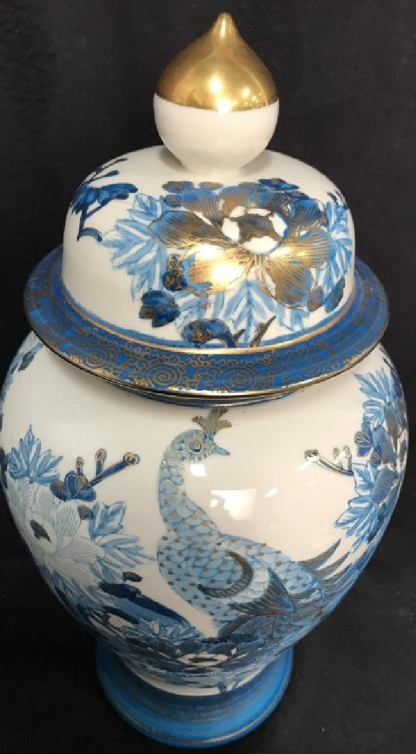 Pair Asian Porcelain Ginger Jars W Lids - 4