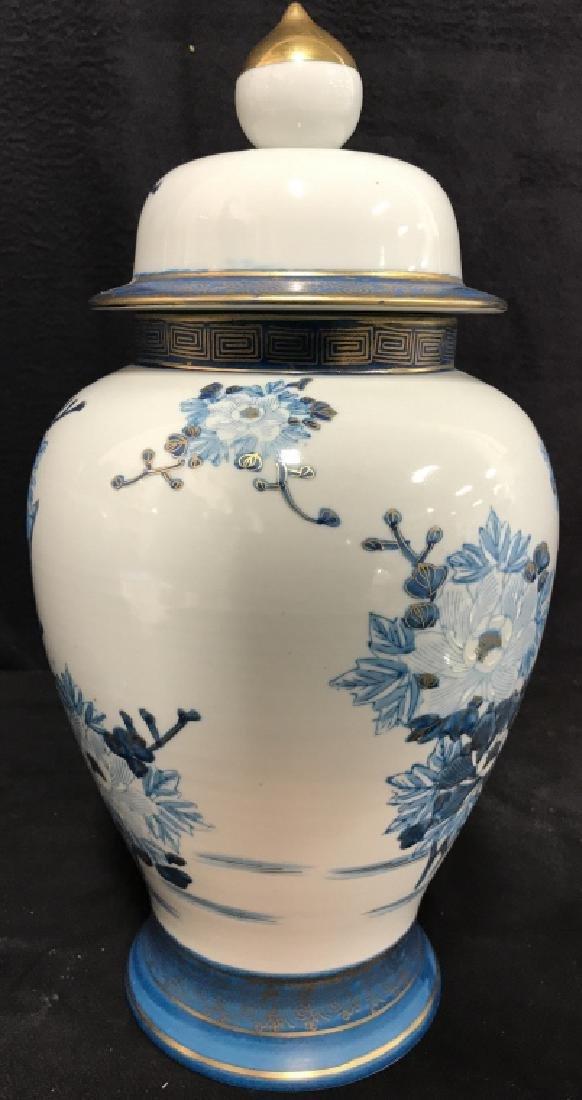 Pair Asian Porcelain Ginger Jars W Lids - 7