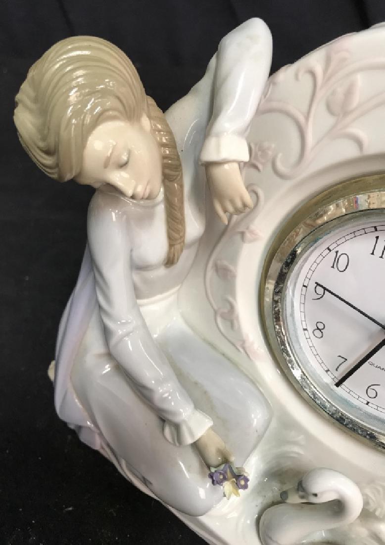 Lladro Porcelain Clock - 2