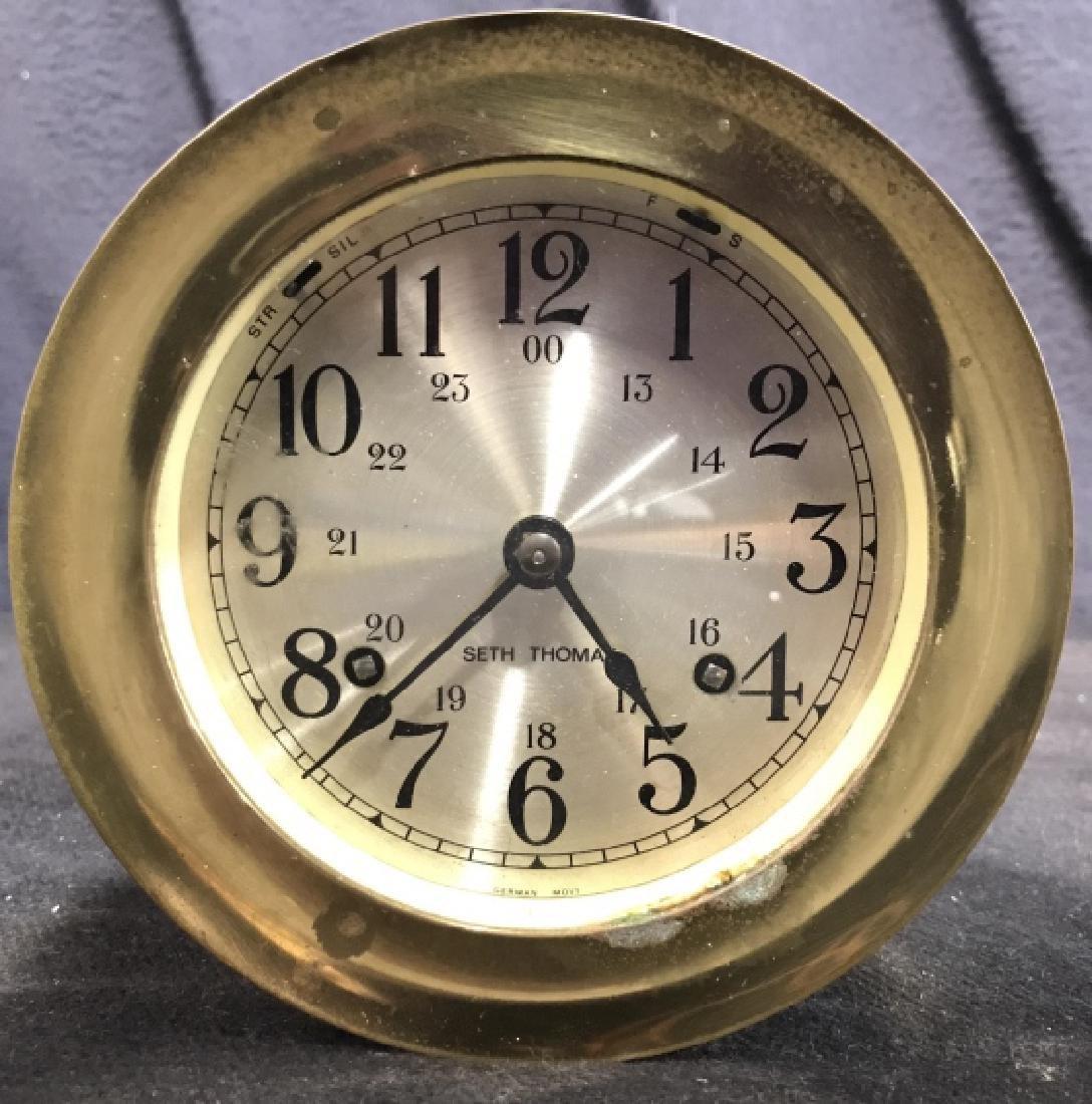 Seth Thomas Ships Bell Clock - 2