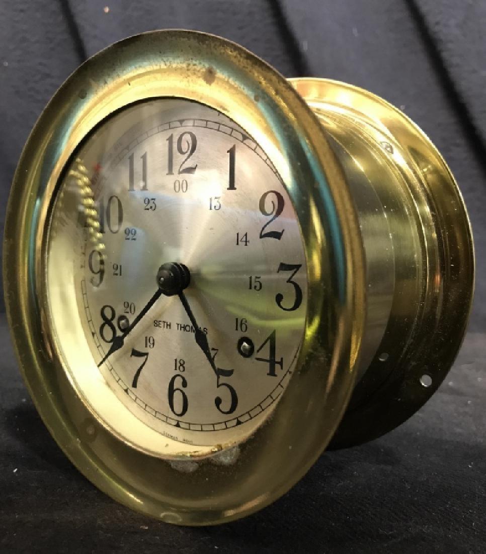 Seth Thomas Ships Bell Clock - 3