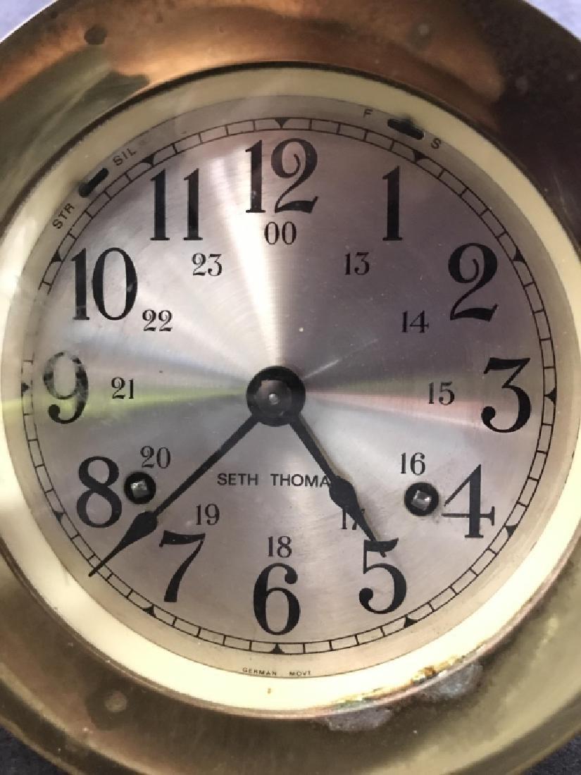 Seth Thomas Ships Bell Clock - 4