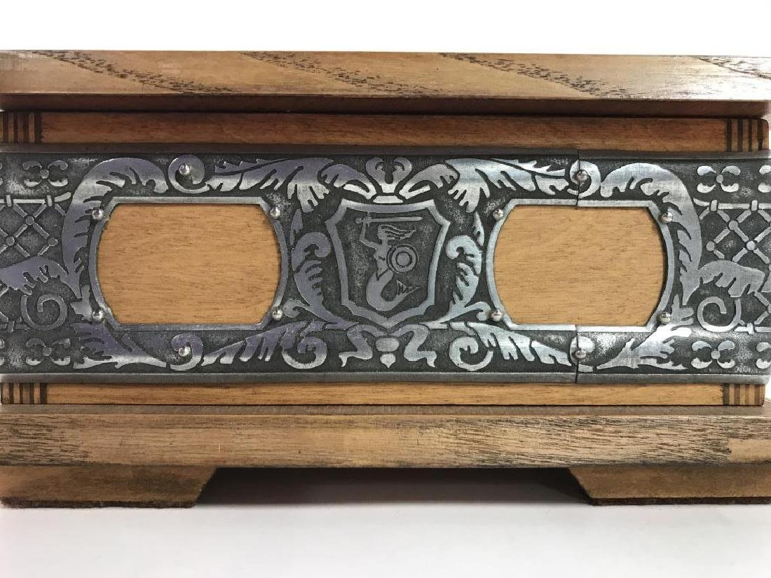 W STOSIO Oak & Silver Toned Decorated Poland Box - 10