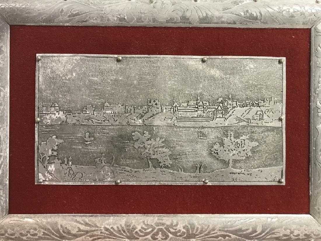 W STOSIO Oak & Silver Toned Decorated Poland Box - 3