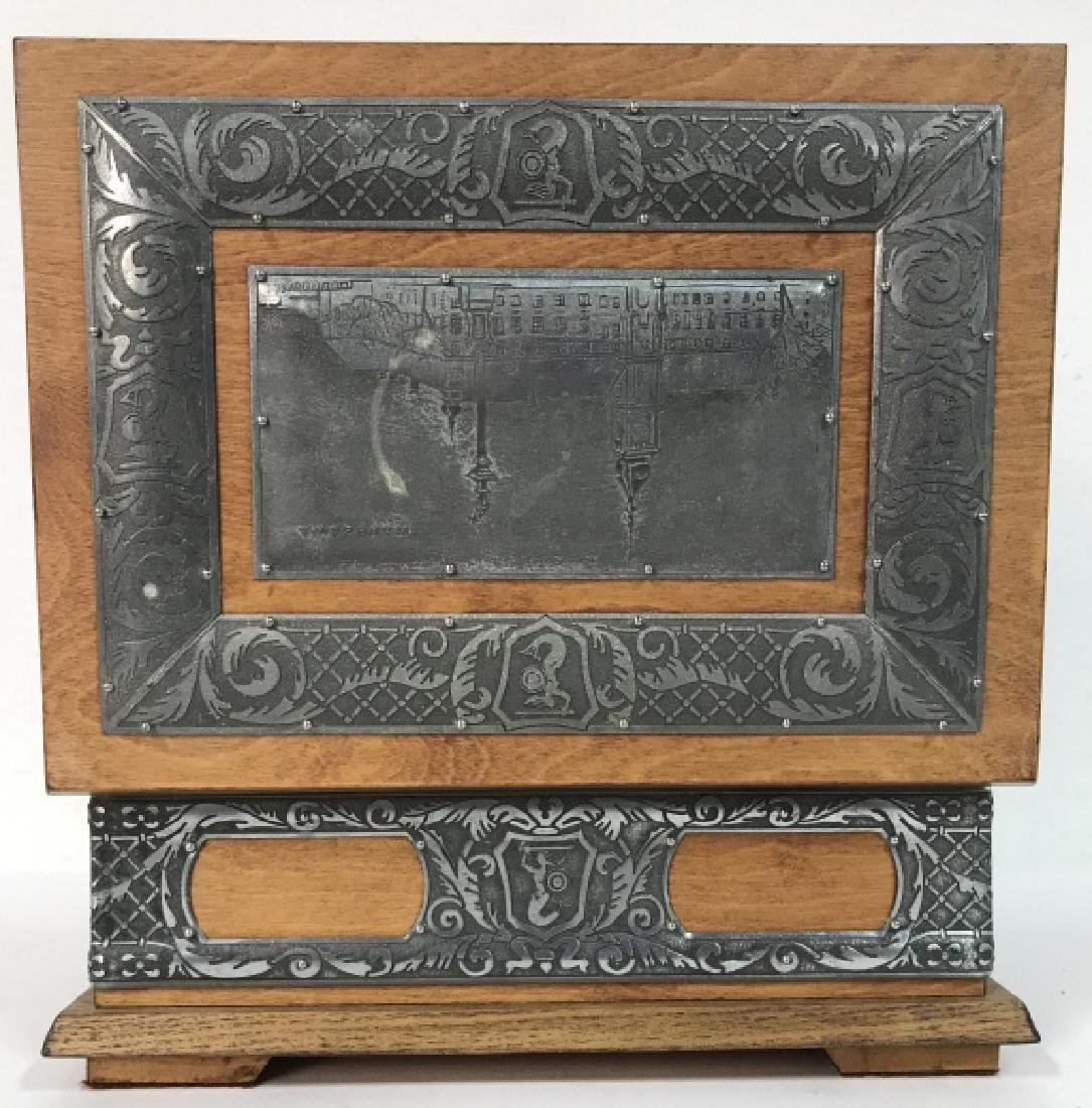 W STOSIO Oak & Silver Toned Decorated Poland Box - 6