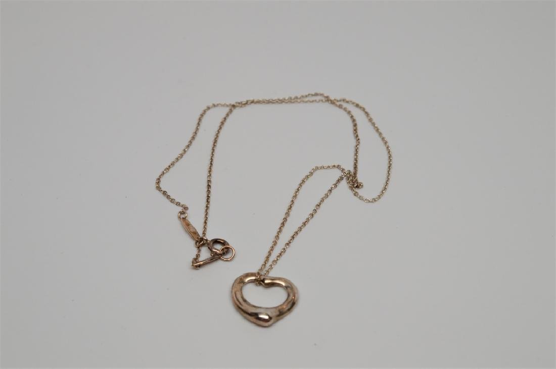 Tiffany Sterling Silver Heart Necklace
