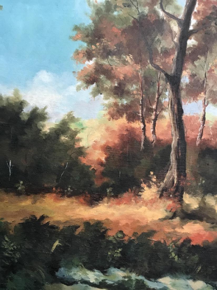 Framed Fox Hunt Oil On Canvas - 9