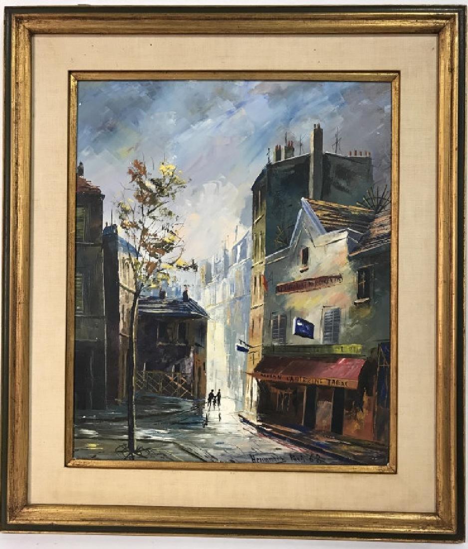 Hernandez Paris 68 Oil On Canvas Painting