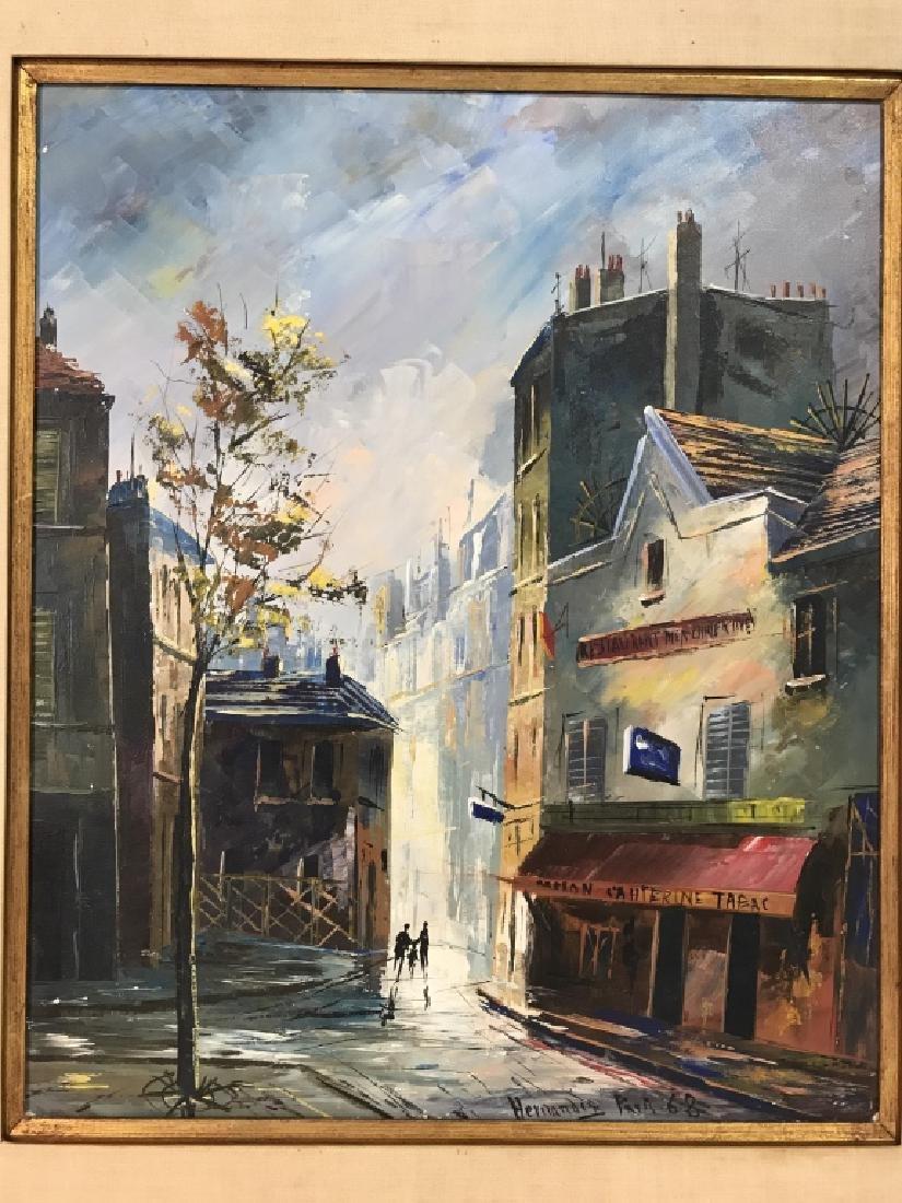 Hernandez Paris 68 Oil On Canvas Painting - 2