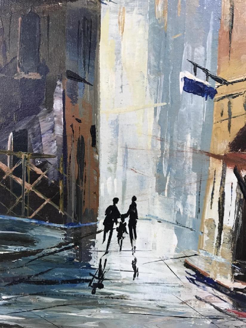 Hernandez Paris 68 Oil On Canvas Painting - 3