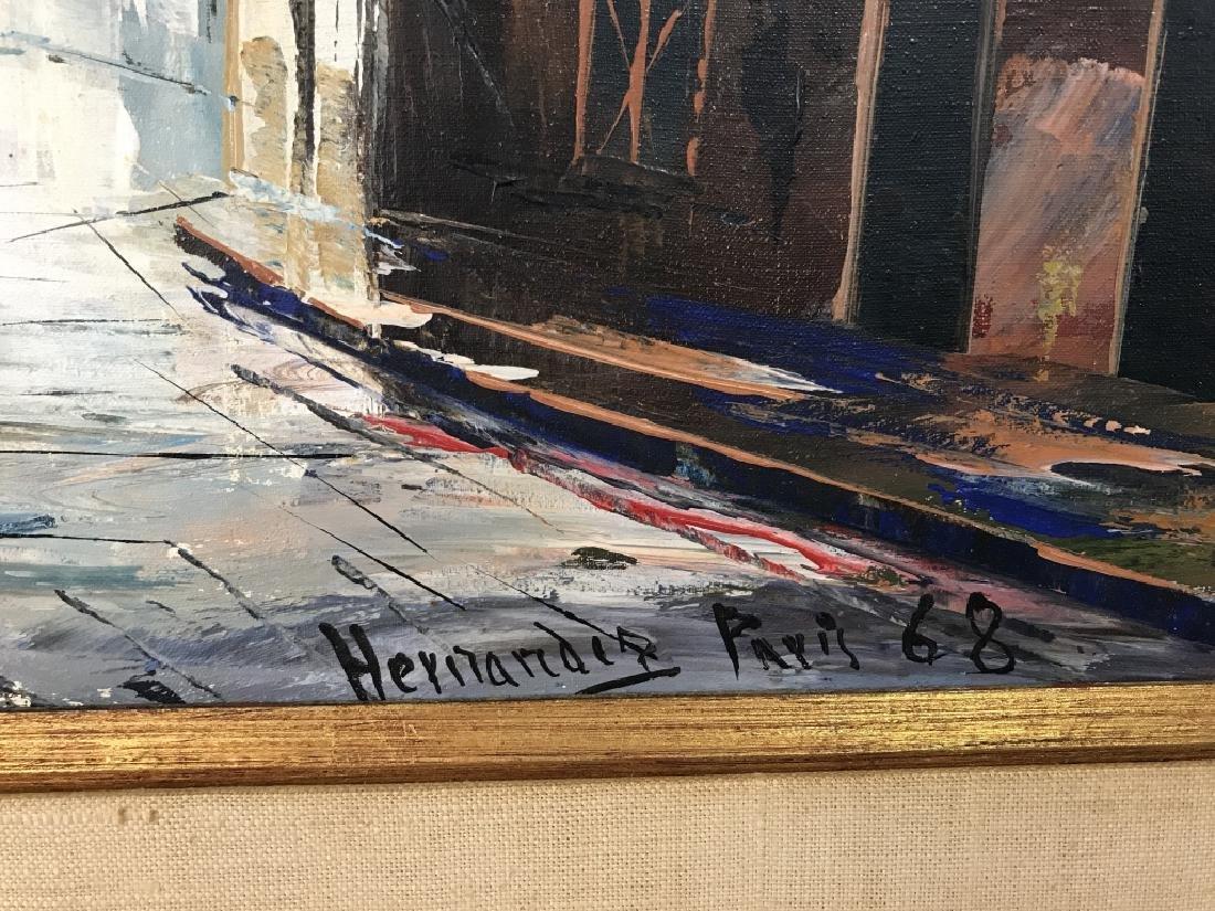Hernandez Paris 68 Oil On Canvas Painting - 4