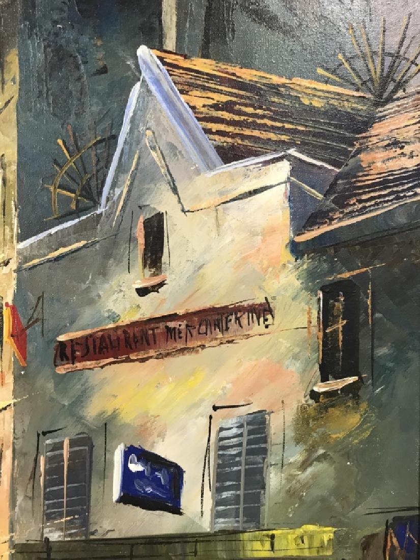 Hernandez Paris 68 Oil On Canvas Painting - 6