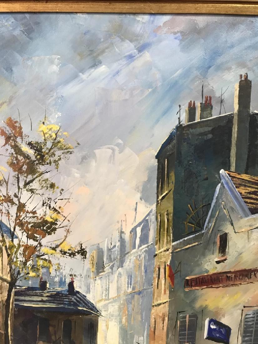 Hernandez Paris 68 Oil On Canvas Painting - 9