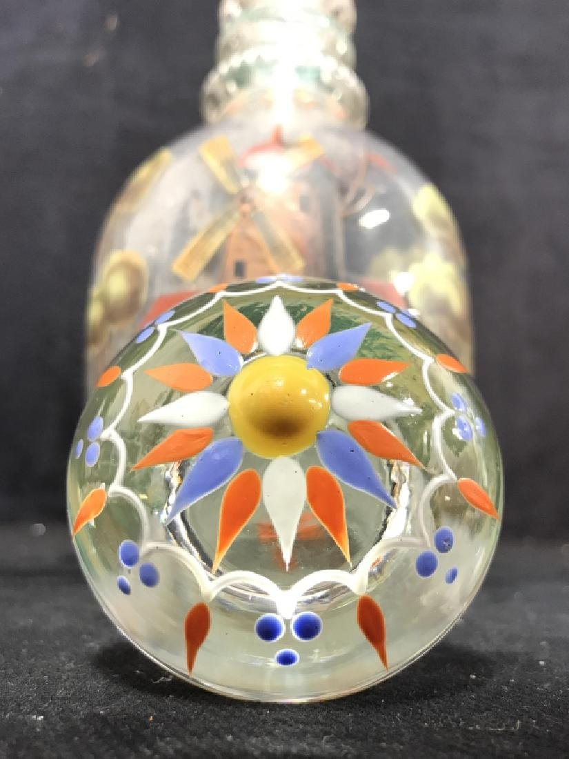 Hand Blown Hand Painted Glass Decanter - 6