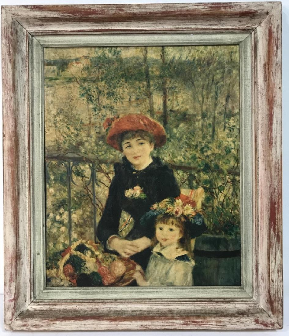 Auguste Renoir On The Terrace Print on Canvas