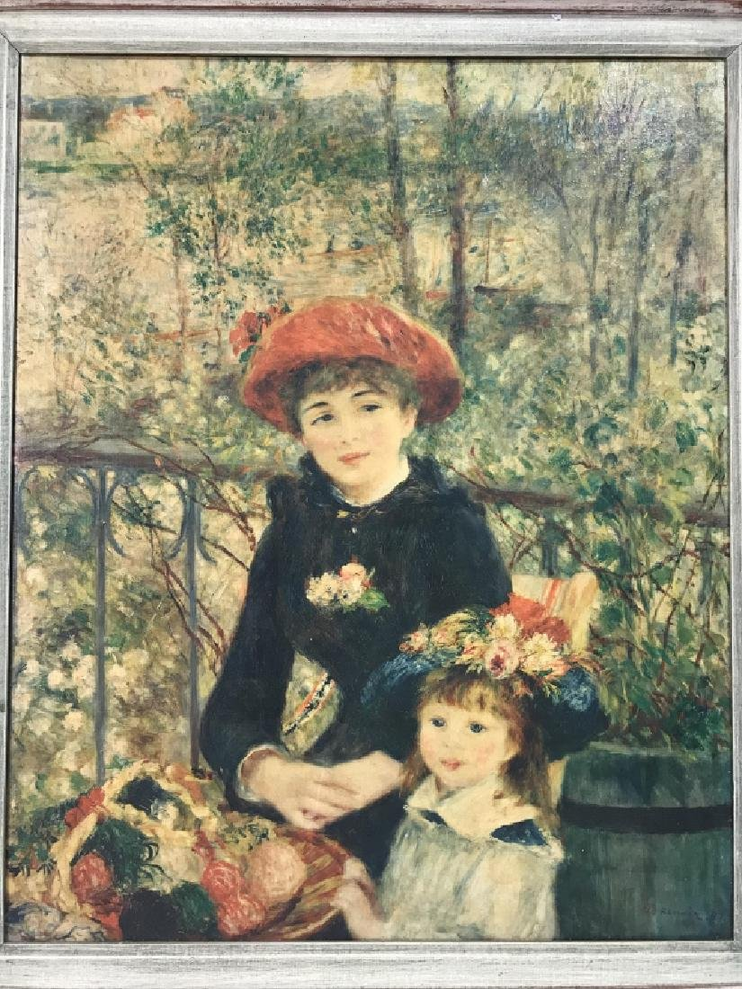 Auguste Renoir On The Terrace Print on Canvas - 2