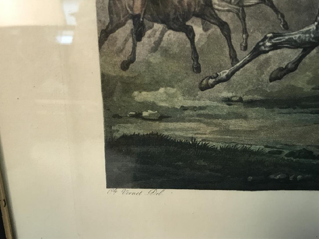 La Coursel French Horse Print Artwork by Jazet - 5