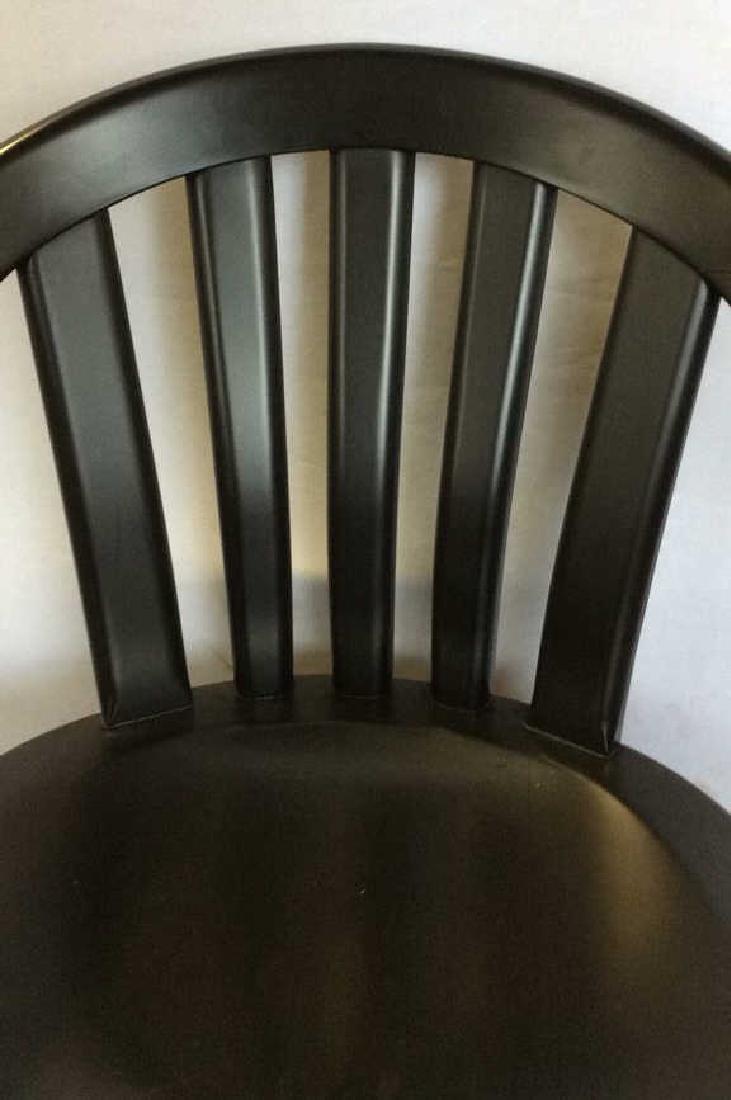 Black Wooden Arm Chair w Loose Seat Cushion - 7