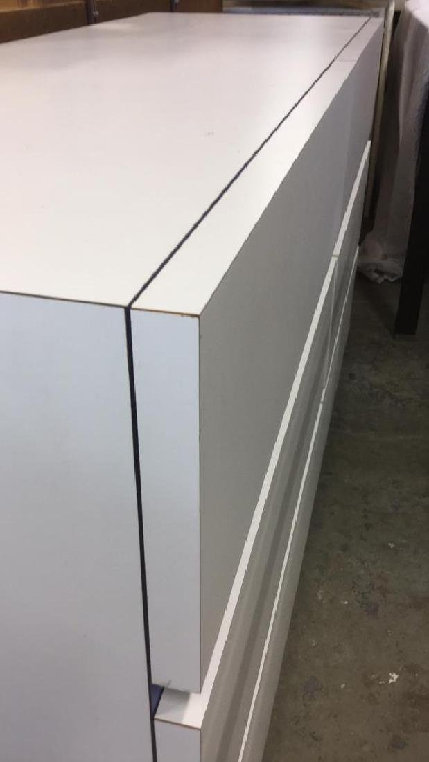 White Toned 6 Drawer Dresser - 5