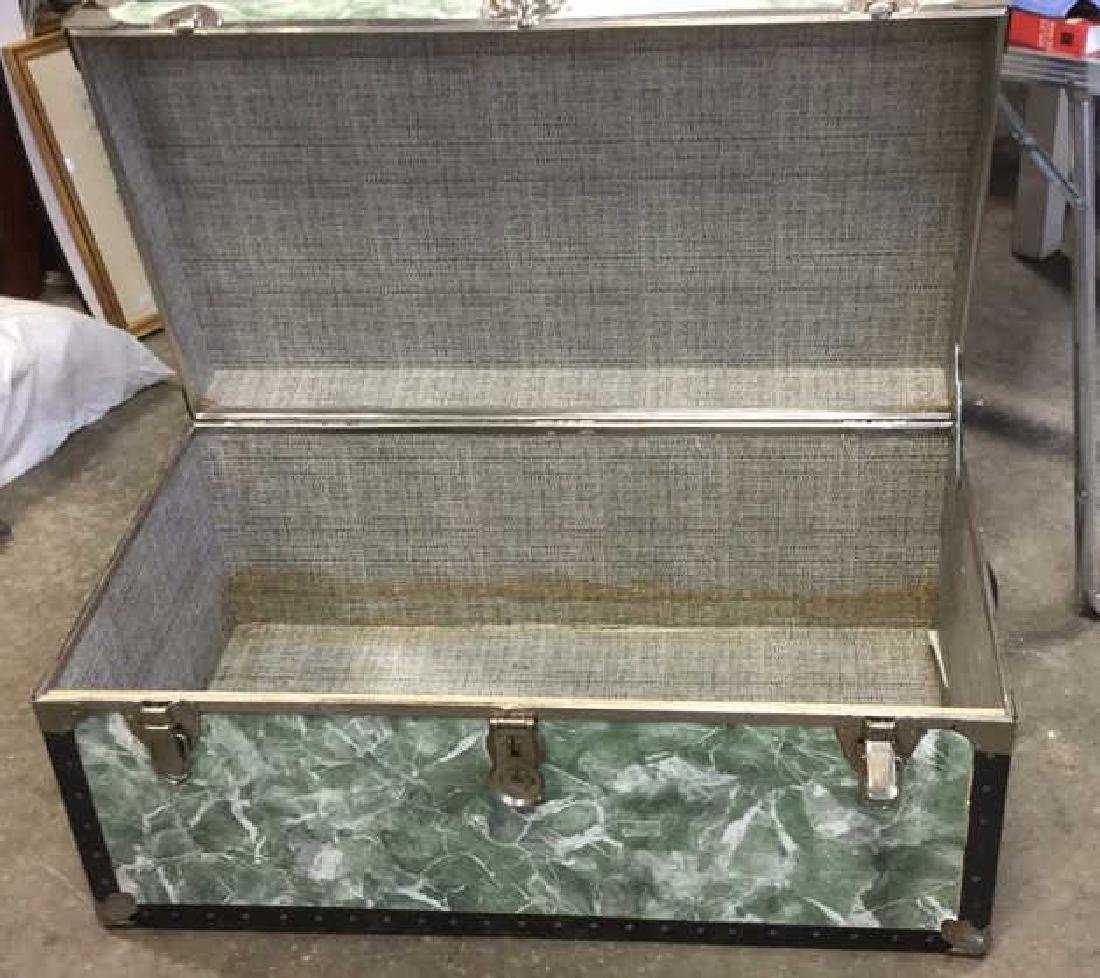 Vintage Trunk w Marbelized Contact Paper - 4